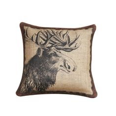 I pinned this Moose Head Pillow from the Adirondack Cabin event at Joss and Main!