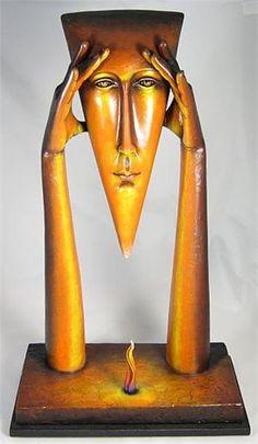 I visited his gallery in Cabo San Lucas. Resin Sculpture, Modern Sculpture, Abstract Sculpture, Newspaper Crafts, Krishna Art, Tea Art, Moon Art, Watercolor Art, Art Gallery