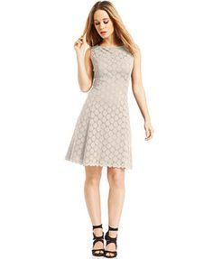 Ronni Nicole Sleeveless Crochet-Lace Dress