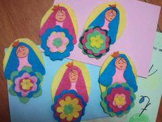Virgen en fieltro para niños