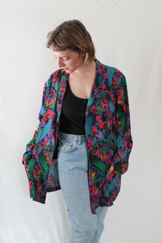 REDUCED 90s 80s Oversize Versace Style by VegaGenesisVintage