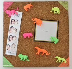 DIY Neon Animal Pushpins | A Bubbly Life: DIY Neon Animal Pushpins