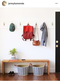 80 Modern Farmhouse Mudroom Entryway Ideas - Page 6 of 79 - Decorating Ideas - Home Decor Ideas and Tips Entryway Hooks, Entryway Decor, Entryway Ideas, Entryway Storage, Modern Entryway, Small Entryway Organization, Entryway Coat Rack, Hallway Bench, Entryway Lighting