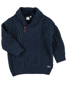 MINI NITPHILSON STRIKKET PULLOVER, Dress Blues