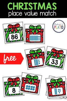 This fun Christmas themed math activity is the perfect teacher resource to make lesson planning easy! These Christmas Place Value Puzzles will be the perfect addition to your math centers this December. In this post, I also share three different ways to extend the activity which is great if you find some of your early learners need more of a challenge. #christmasmath #firstgrademath #earlyelementary Christmas Place, Christmas Math, Christmas Activities For Kids, Christmas Themes, Math Place Value, Place Values, First Grade Math, Second Grade, Free Math