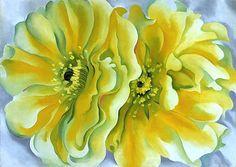 Yellow Cactus, 1929 Georgia O'Keeffe