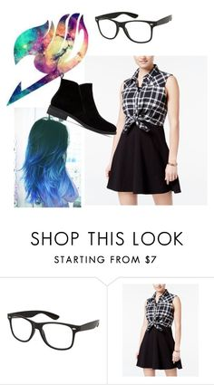 """""""water bender in fairytail"""" by musicninja101 ❤ liked on Polyvore featuring Emerald Sundae and Lucky Brand"""