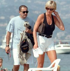 Lady Di and Dodi Al Fayed in Saint Tropez, shortly after her visit to Sarajevo.
