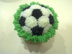 soccer cupcakes -