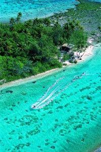 Jet skiing in Tahiti.