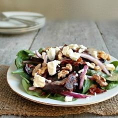 Spinach Salad w/Bacon and Goat Cheese by HungryCouple