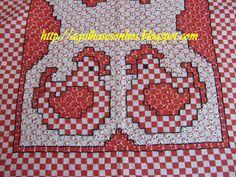 Chicken Scratch Chickens......Agulhas e sonhos: bordado em tecido xadrez