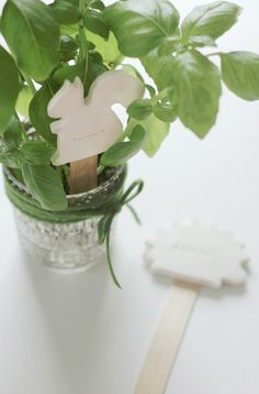 Clay plant labels in Crafts for decorating and home decor, parties and events