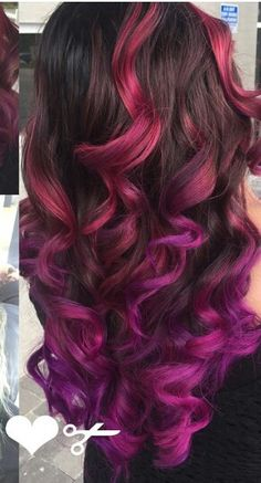 Pink two tone dyed hair