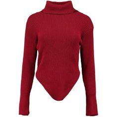 Boohoo Georgia Turtle Neck Rib Knit Bodysuit   Boohoo ($19) ❤ liked on Polyvore featuring intimates and shapewear
