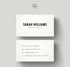 Clean Simple Business Card Design Design Business Cards