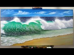 Art Lesson: How to create a realistic Wave with H2o Water Mixable Oil Paints - YouTube