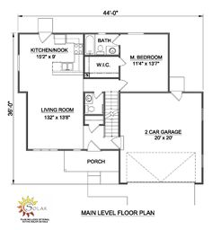 First Floor Plan of Traditional   House Plan 94443