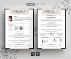 Minimalist Resume  Cv Template By The Path On Creativemarket