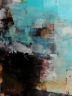 abstracts on yupo by Jodi Ohl