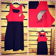 Portland Trailblazers Blazers Game Day Dress by This Old Blouse