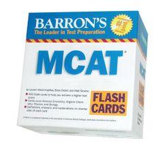 Barron's MCAT Flash Cards by Lauren Marie Kupillas et al., http://www.amazon.com/dp/0764196928/ref=cm_sw_r_pi_dp_XJWOtb130QQD3