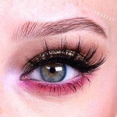 #eye #makeup #pink #glitter #beautiful