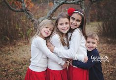 Cakewalk Photography Long Island NY Child and Family Portraits https://www.facebook.com/pages/Cakewalk-Photography/171089346270135  #family #photo #shoot #natural #light #outfit #holiday #fall #siblings #four #red #leaves