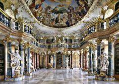Library of Wiblingen Abby in Ulm, Germany.