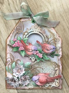 Bird Song Vintage Shabby Chic Tag