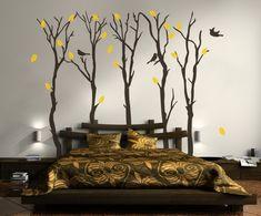 Wandsticker Wandtattoo Schlafzimmer-Ideen Baum