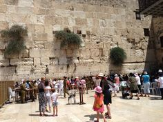 Here we are at the Western Wall.
