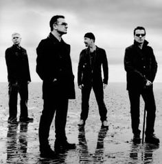 U2. Photo by Anton Corbijn  (Adam Clayton, Bono, The Edge & Larry Mullen, Jr.)