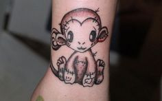 What does monkey tattoo mean? We have monkey tattoo ideas, designs, symbolism and we explain the meaning behind the tattoo. Monkey Tattoos, Weird Tattoos, Baby Tattoos, Couple Tattoos, Body Art Tattoos, Mom Daughter Tattoos, Tattoos For Daughters, Tattoo Samples, Pink Rose Tattoos