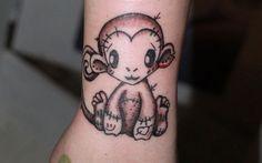 cute monkey tattoos