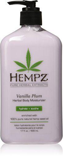 Hempz Herbal Body Moisturizer, Light Purple, Vanilla Plum, 17 Fluid Ounce ** Click image for more details.