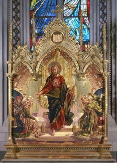 Giuseppe Catani Chiti (Prato 1866-Florence 1945), The Saviour, 1900. Oil and gold on wood, 147/175 x 172 cm. Siena, the Basilica of San Francesco. Photo Fabio Lensini, courtesy of the Seminary of Siena.
