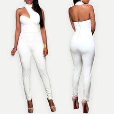 $34.99 Choker Open Back Fashion Jumpsuit
