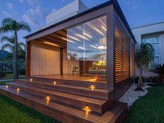 Patio House Ideas, Backyard Patio Designs, Pergola Patio, Backyard Landscaping, Modern Gazebo, Modern Patio, House Extension Design, Piscina Interior, Gazebos