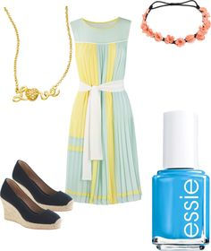 """""""spring pastels"""" by mmmaddiex ❤ liked on Polyvore"""