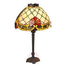 Rustic table lamp MARIKE in a striking Tiffany style