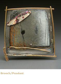 Jewelry by Lauren Pollaro enamel on copper, sterling silver