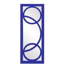 "Howard Elliott Dynasty Royal Blue Mirror 15"" x 38"" x 1"""