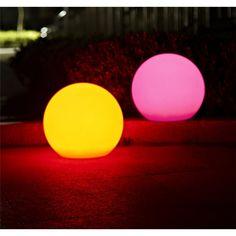 LED-Aussenkugel weiss - RGB 3 m Leitung m. Stecker