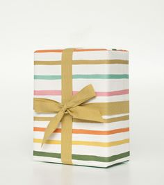 Happy Stripe Wrapping Sheets -- Rifle Paper Co.