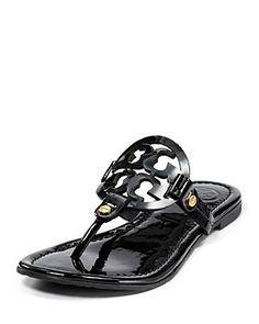 12e95f7f8 Tory Burch black flats Sandals - Miller Thong Tory Burch Sandals