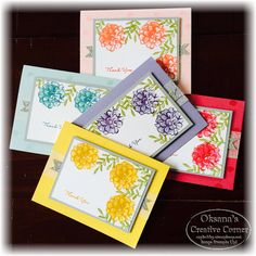 Oksana's Creative Corner: What I Love Stamp Set form  Stampin Up Sale-A-Bration What I Love Stamp Set. Note cards