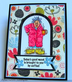 Art Impressions: Ai Golden Oldies ... Maude ... handmade coffee themed card.