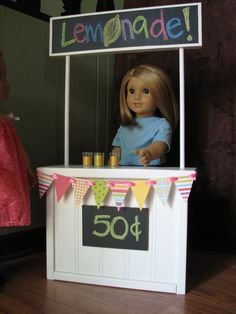 Lemonade Stand for American Girl / 18 Doll by MadiGraceDesigns