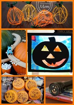 Fun Halloween crafts for kids -- great for younger children who aren't into scary stuff!